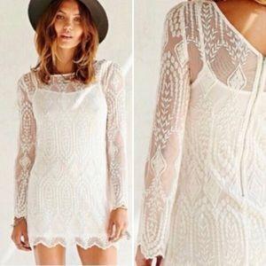 ecote White Lace Dress with Slip